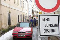 Rekonstrukce Štítného ulice v Jindřichově Hradci.
