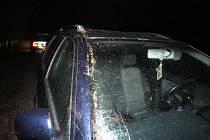 Mezi Kunžakem a Střížovicemi v úterý brzy ráno auto narazilo do spadlého stromu.