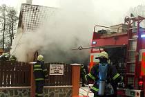 Požár garáže v Majdaleně.
