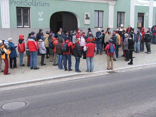 Výstup na Javořici - Silvestr 2008.