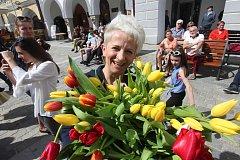 Květinová show na třeboňském náměstí