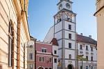 Třeboňská věž na Masarykově náměstí.