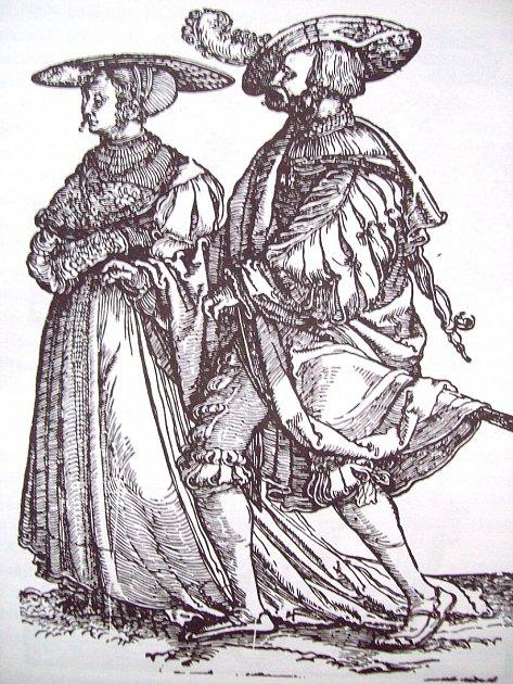 Šlechtický pár při tanci.