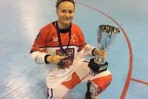 Martina Vonková z Třeboně je reprezentantkou jak v ledním, tak i inline hokeji.