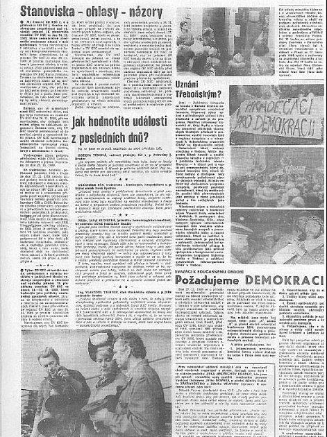 Štít 1.prosince 1989 - strana 2.
