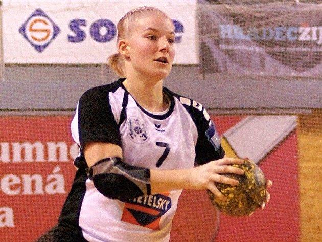 Hradecká spojka Zuzana Kohoutová.