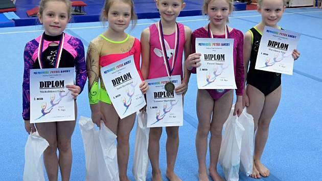 Gymnastkám hradeckého Slovanu vyšel závěr sezony na jedničku.
