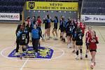Jindřichohradecké starší dorostenky si v I. lize tři kola před koncem zajistily minimálně bronzové medaile.