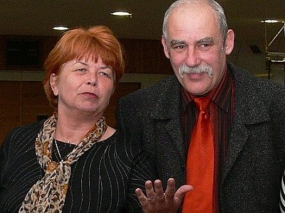 Jaromíra Jannová (na snímku společně s předsedou Slovanu Stanislavem Beranem).
