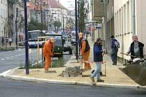Nádražní ulice v Jindřichově Hradci. Ilustrační foto.
