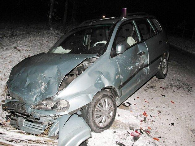 Dopravní nehoda u Branné.