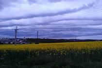 Krásnou a zároveň zlověstnou oblohu nad Dačicemi vyfotila Ivana Bugnovská.