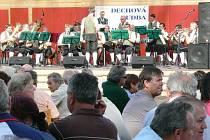 Festival dechových souborů v Lomnici nad Lužnicí.