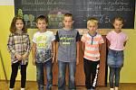 První školní den v základní škole v Popelíně.