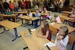 První den v Základní škole v Suchdole nad Lužnicí.