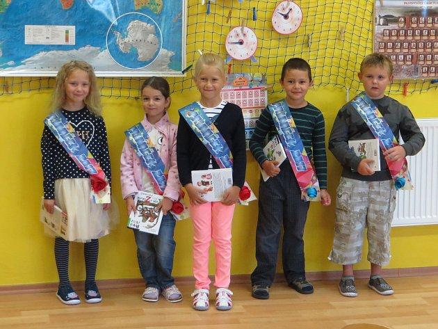 Žáci zprvního ročníku ze základní školy ve Starém Městě pod Landštejnem. Foto: archiv ZŠ Staré Město pod Landštejnem