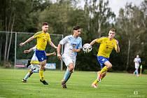 Jindřichohradečtí fotbalisté v duelu s Doubravkou vybojovali dva body.