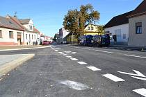 Třetí etapa prací ve Václavské ulici skončila v pátek 1.října.