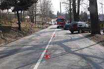 Motorkář havaroval o víkendu na Humpolecké ulici v Pelhřimově.