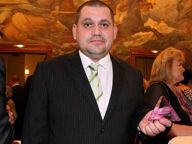 Michal Zach z Pelhřimova s oceněním.