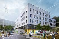 Vizualizace nového pavilonu Nemocnice Pelhřimov.