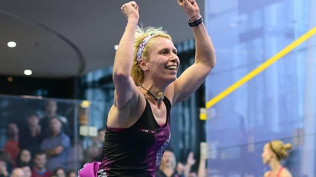 Takhle loni jásala po vyhraném finále pelhřimovská rodačka Zuzana Kubáňová. Letos se ze squashového titulu bude radovat někdo jiný.