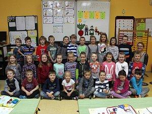 Na fotografii jsou žáci ze ZŠ Krásovy Domky v Pelhřimově, třída 1. A paní učitelky Gabriely Kořínkové.