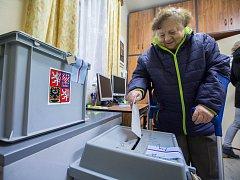 První kolo prezidentské volby v Proseči u Humpolce.