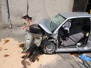 Takto vypadalo auto po tragické nehodě, která se stala ve čtvrtek 15. června 2017 v obci Kámen na Pelhřimovsku.