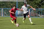 Utkání krajského přeboru mezi HFK Třebíč a FK Pelhřimov.