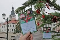 Vánoční strom splněných přání v Pelhřimově