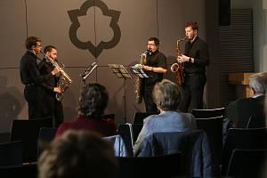 Součástí sobotní akce byl také koncert Saxofonové kvarteto ZUŠ Pacov.