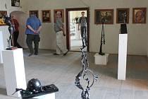 Kdo chce vidět malby, grafiky, fotografie, plastiky, keramiku i dřevěné sochy na jednom místě, může do konce srpna navštívit výstavu jedenácti profesionálních i amatérských umělců v jižním křídle zámku v Červené Řečici.