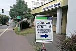 Očkovací centrum v Nemocnici Pelhřimov.