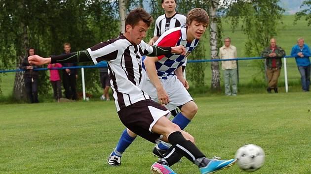 Fotbalisté Budíkova v tabulce druhý Plačkov doslova přejeli. Soupeři nastříleli pět gólů už v prvním poločase.