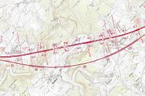 Situační náčrt trati z listopadu 2013.