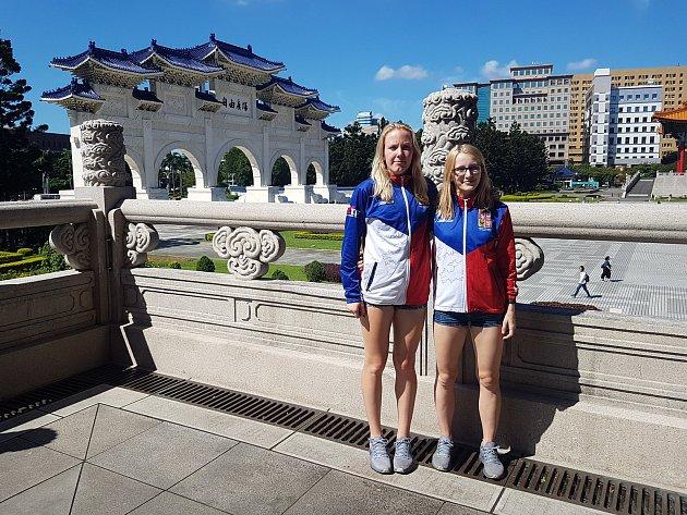Do zajímavé turistické destinace vycestovaly pelhřimovské taekwondistky Iveta Jiránková (vlevo) a Dominika Hronová. Na sportovním kolbišti si ale radost neudělaly.