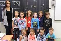 Na fotografii jsou žáci ze ZŠ a MŠ Nová Cerekev, 1. třída paní učitelky Nikoly Lášové.