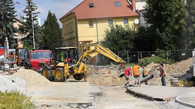 Stavba kruháče v Pelhřimově.