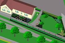 Takovou konečnou podobu by měla dostat zahrada u vlakového nádraží, ze které se stane útulný parčík pro turisty i Kamenické.
