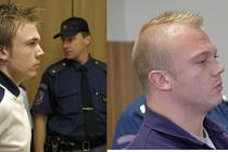 Porovnání. Václav Matějka u soudu v roce 2004 (vlevo) a po osmi letech vězení v roce 2012.