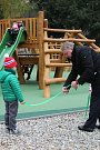 Nové dětské hřiště v Městských sadech.