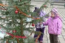 Strom splněných přání na pelhřimovském náměstí.