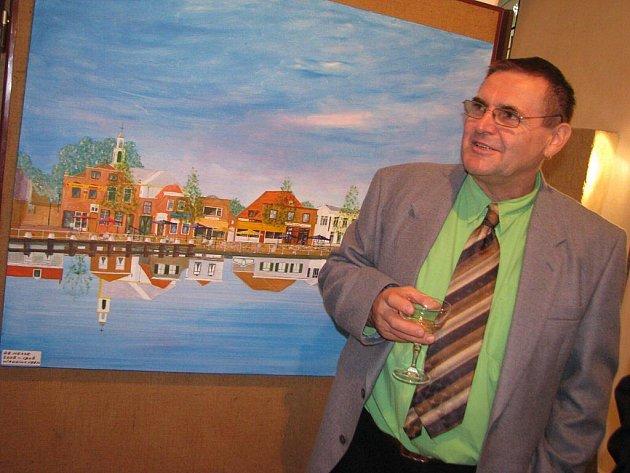 Nadaní malíři ze spřátelených měst Kunstring a Waddinxveen vystavují v kostele svatého Víta vPelhřimově.