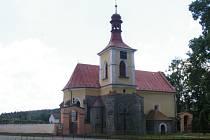 Stopa mistra Santiniho - kostel v Bříštích