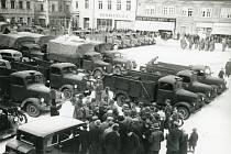 Pelhřimov, Masarykovo náměstí, 17. března 1939.