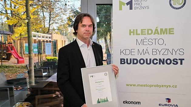 Starosta Humpolce Karel Kratochvíl čelí výzvám k odstoupení. Foto: archiv pořadatele srovnávacího výzkumu Město pro byznys