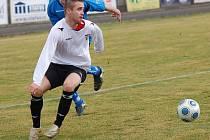 Pelhřimovští fotbalisté nehrají špatně v poli, s koncovkou už je to horší. Zlepšení může zařídit i Pavel Benda, který by měl nastoupit na hrotu útoku. On by měl být hlavní hrozbou pro obranu Velkého Meziříčí.