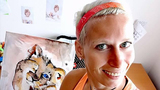 Zuzana Kubáňová ve volných chvílích i maluje.