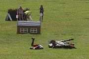 Jednou z disciplín závodů všestrannosti na Zlaté podkově v Humpolci je i terénní zkouška známá také jako cross.
